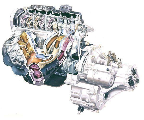 Первые автомобили Honda Civic оснащались двигателями с системой CVCC